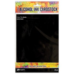 "Black Matte Alcohol Ink Cardstock 5""x7"" 10/Pkg Ranger"