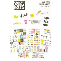 Good Vibes A5 Sticker Tablet Carpe Diem Simple Stories
