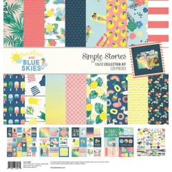 """Sunshine & Blue Skies Collection Kit 12""""x12 Simple Stories"""