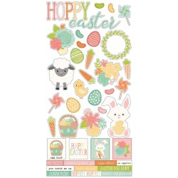 "Bunnies & Baskets Cardstock Stickers 6""x12 Simple Stories"