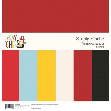 """Say Cheese 4 Simple Basics Kit 12""""x12 Simple Stories"""