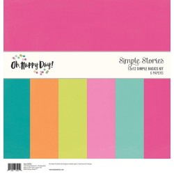"Oh Happy Day Simple Basic Kit 12""x12 Simple Stories"