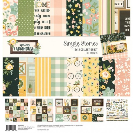 "Spring Farmhouse Collection Kit 12""x12 Simple Stories"