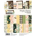 "Spring Farmhouse Paper Pad 6""x8"" Simple Stories"
