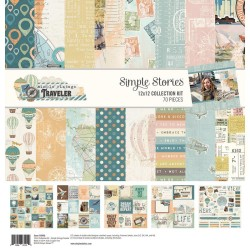 "Simple Vintage Traveler Collection Kit 12""x12 Simple Stories"