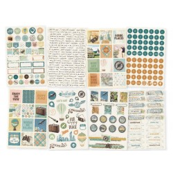 "Simple Vintage Traveler Stickers 4""x6"" Simple Stories"