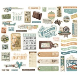 Simple Vintage Traveler Bits & Pieces Simple Stories