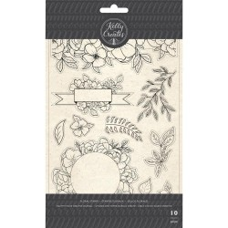 Florals Set Acrylic Traceable Stamps Stamp & Trace Kelly Creates