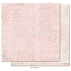 "Pink Linen 12""x12"" Denim & Girls Collection"