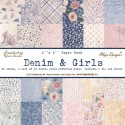 "Denim & Girls Paper Pad 6""x6"" Maja Design"