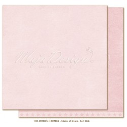 "Soft Pink Monochromes Shades Of Denim 12"" x 12"" Maja Design"