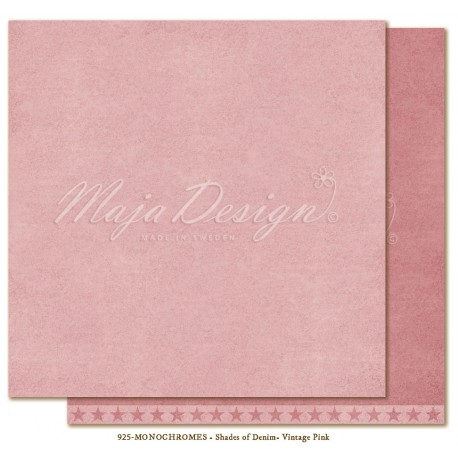 "Vintage Pink Monochromes Shades Of Denim 12"" x 12"" Maja Design"
