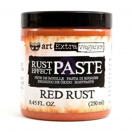 Red Rust Effect Paste Art Extravagence Finnabair Prima Marketing