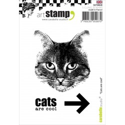 Cats Are Cool Stamp Carabelle Studio
