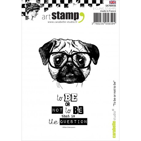 To Be Or Not To Be Stamp Carabelle Studio