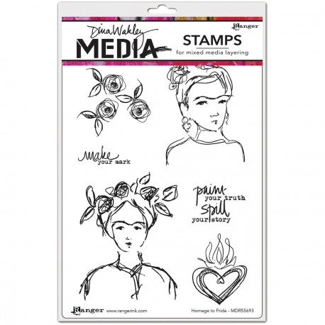 Homage To Frida Stamps by Dina Wakley Ranger