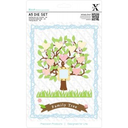 Family Tree A5 Die Set Xcut