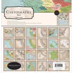 "Cartography No. 1 Collection Kit 12""x12"" Carta Bella"