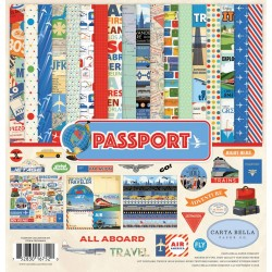 "Passport Collection Kit 12""x12"" Carta Bella"