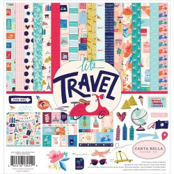 "Let's Travel Collection Kit 12""x12"" Carta Bella"