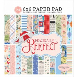 "Practically Perfect Paper Pad 6""x6"" Carta Bella"