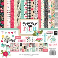 "Forward With Faith Collection Kit 12""x12"" Echo Park"