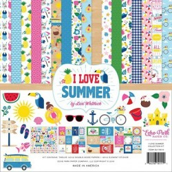 "I Love Summer Collection Kit 12""x12"" Echo Park"