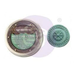 Mint Sparkle Wax Metallic by Finnabair Art Alchemy Prima Marketing