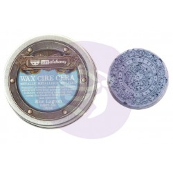 Blue Lagoon Wax Metallic by Finnabair Art Alchemy Prima Marketing