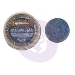 Old Denim Wax Metallic by Finnabair Art Alchemy Prima Marketing