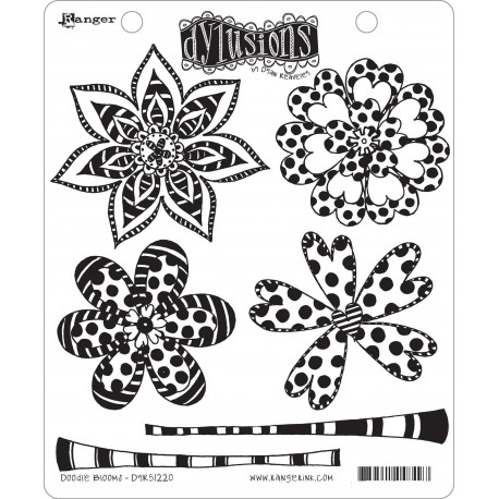 Doodle Blooms Dyan Reaveley's Dylusions Cling Stamp