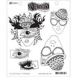 The Eyes Have It Dyan Reaveley's Dylusions Cling Stamp