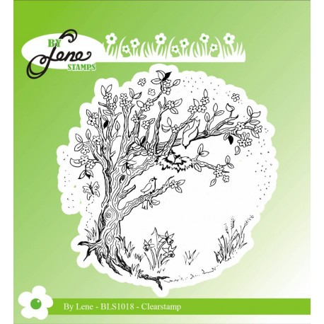 Spring Tree Clear Stamp by Lene Stamps