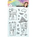 "Casette by Shily Cohen 03 Clear Stamp Set 4""x6"" Studio Light"