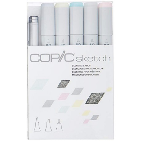 Blending Basics Copic Sketch Set 4 Colori 1 Blender 1 Multiliner