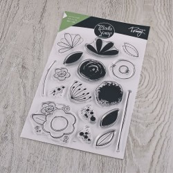 Doodle Flower Clear Stamps Linea Tommy Modascrap