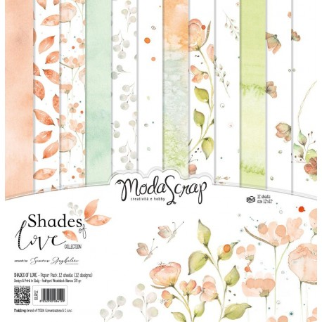"Shades Of Love Paper Pack 12"" x 12"" ModaScrap"