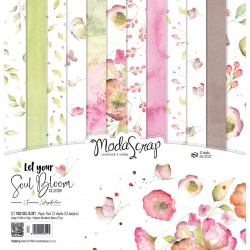 "Let Your Soul Bloom Paper Pack 12"" x 12"" ModaScrap"