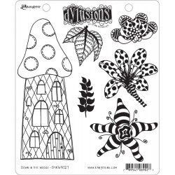 Down In The Woods Dyan Reaveley's Dylusions Cling Stamp