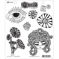 Ocean Life Dyan Reaveley's Dylusions Cling Stamp
