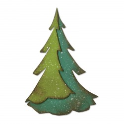 Layered Pine Bigz Die by Tim Holtz Siizzix