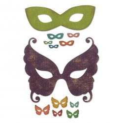 Masquerade Thinlits Dies By Tim Holtz Sizzix