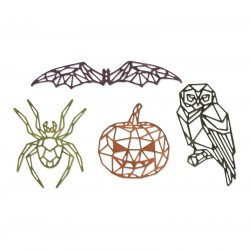 Geo Halloween Thinlits Dies By Tim Holtz Sizzix