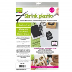 White Shrink Plastic Vaessen Creative