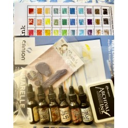 Kit Colorazione Distress con Regalo Timbro Magnolia
