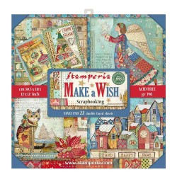 "Make a Wish 12""x12"" Maxi Pad Scrapbooking Paper Pad Stamperia"