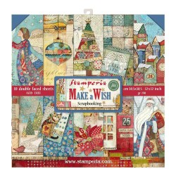 "Make a Wish 12""x12"" Scrapbooking Paper Pad Stamperia"
