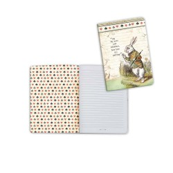 Alcie White Rabbit A6 Notebook Stamperia