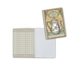 Alice Tea Pot Rabbit A6 Notebook Stamperia