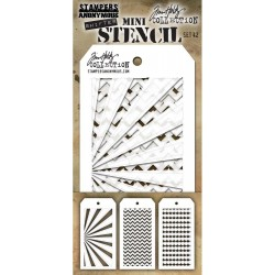 Set 42 Tim Holtz Mini Layering Stencil 3 Pkg